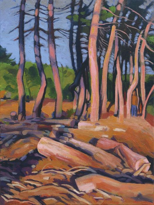 Bois coupé, peinture de Hélène Courtois-Redouté