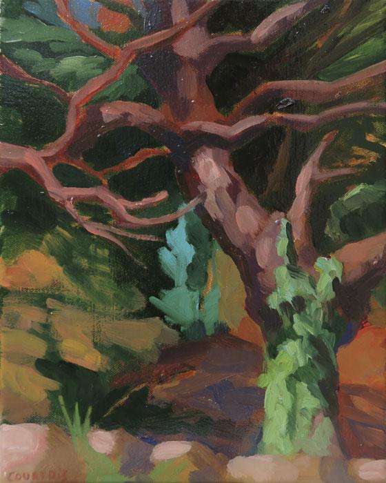 peinture d'arbre tourmenté