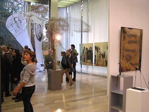 inauguration salon artcité 2015 à l'hôtel de ville de fontenay-sous-bois