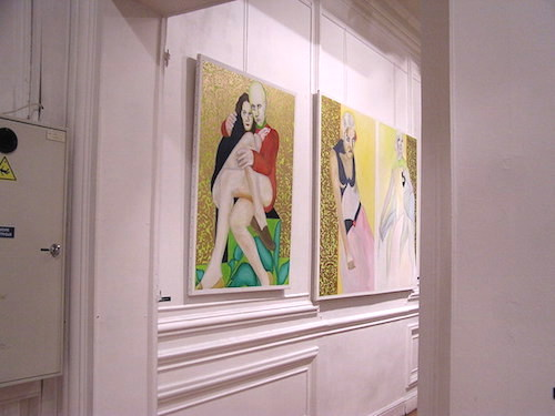 tableaux d'Alain Schrotter à la maison du citoyen à fontenay-sous-bois