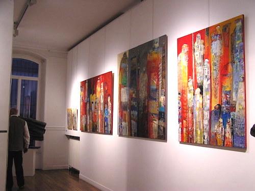 tableaux de Esti Lévy à la Maison du Citoyen artcité 2015