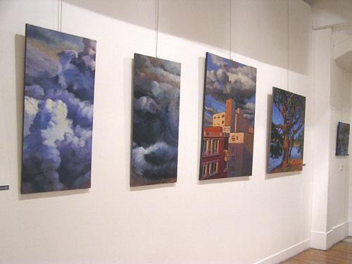 tableaux peintures hélène courtois-redouté ciels nuages paysage immeuble arbre
