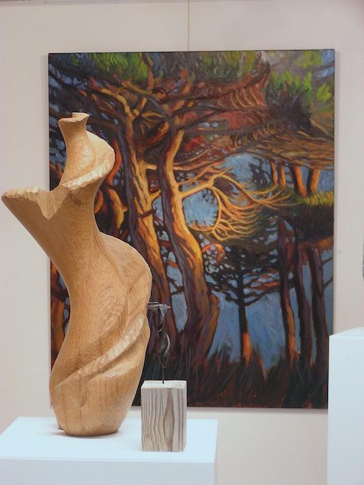 peinture arbre et sculpture bois
