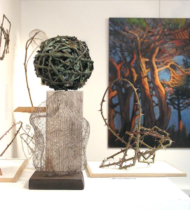 boule en ronce sculpture bronze