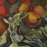 pommes et papier peintures contemporaines hélène courtois-redouté peintre