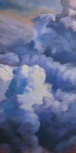 nuages cumulus blancs et bleus