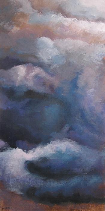 nuages noirs orageux peinture acrylique