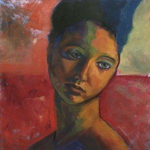 portrait de colomba peinture visage de femme