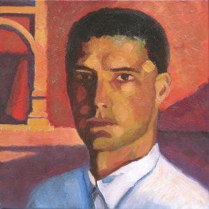 portrait homme italien avec chemise blanche