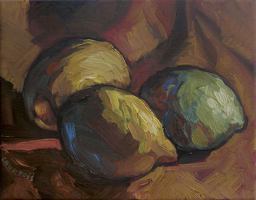 still lives citrons jaunes et verts peinture contemporaine
