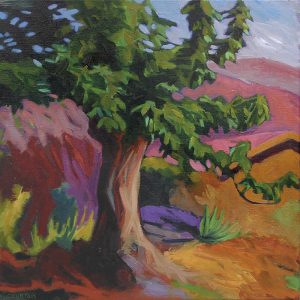 cerisier arbre en ardèche couleurs or rose rouge violet