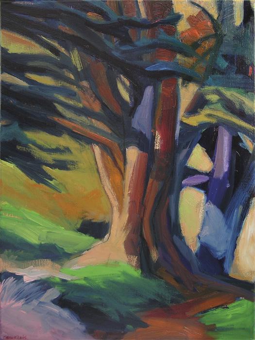 arbre peinture contemporaine expressionniste