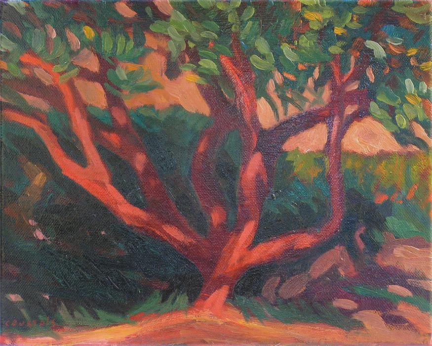 arbousier rouge peinture à l'huile