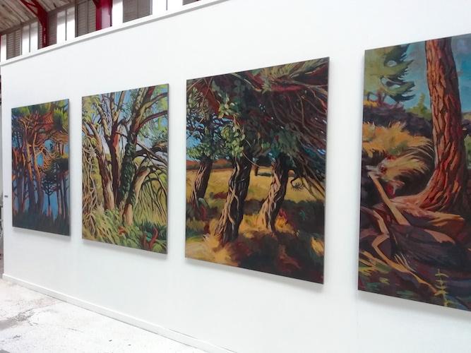 peintures arbres hélène courtois-redouté artcité 2019