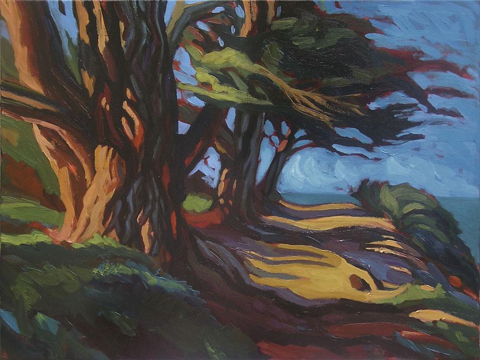 peinture d'arbres à sainte-coulomb