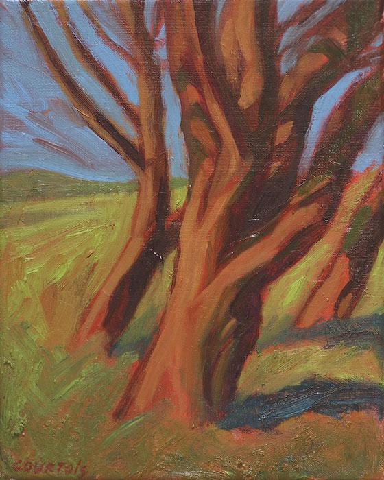 peinture petit arbre à saint-briac